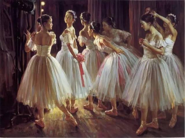 油画家笔下的芭蕾舞女,高贵优雅、纯洁无瑕而又洋溢着青春之美
