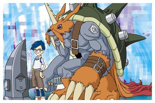 数码宝贝:这位数码兽太强势了,竟抢走祖顿兽的角做武器,是谁呢