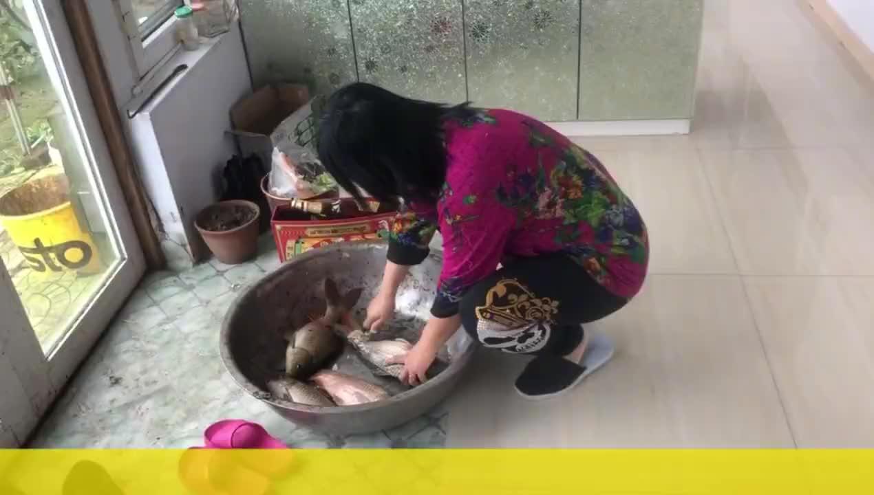 农民王小:4条大鱼、一锅排骨汤,大姐姐夫当厨师,说农民太辛苦