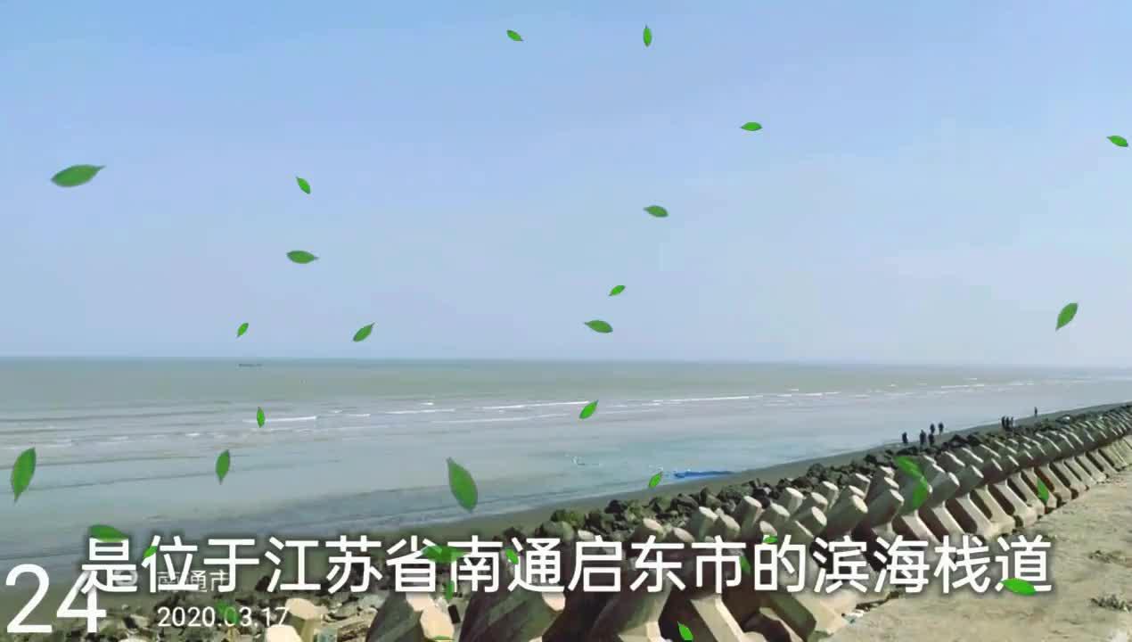 启东海边是江苏日出最早的地方,清澈的海水,温润的海风令人沉醉