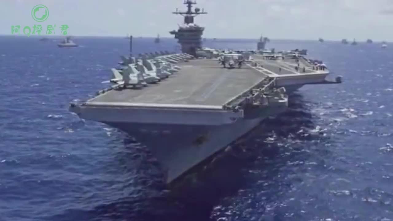 10万吨航母横行无忌如果在海上遇到最强台风会是什么场面