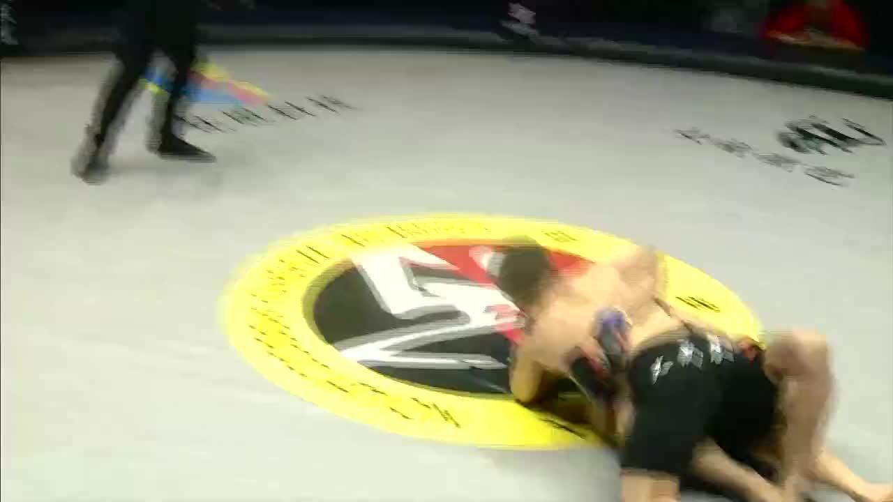 罗德里戈使用手臂十字固成功击败龙俊霖,观众没反应过来就结束了