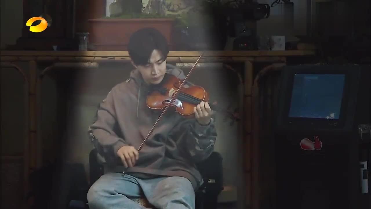 戚薇小提琴独奏《至少还有你》,声音刚出来,黄磊:好,可以了!