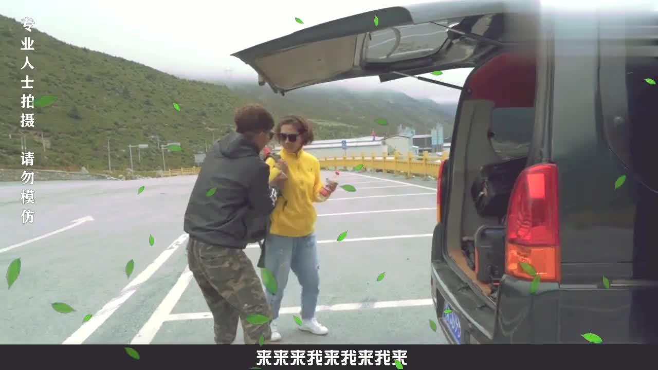 自驾西藏徒步搭车的小姐姐,高发要人工呼吸徒步西藏