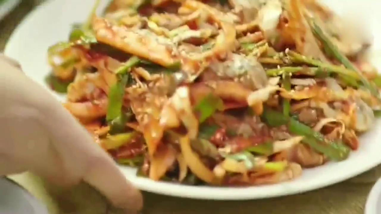牡蛎汤饭,石锅饭煎饼,大胃王真是享受