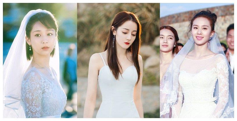 迪丽热巴婚纱超美!10个剧里最美婚纱造型,杨紫好甜,刘诗诗好仙