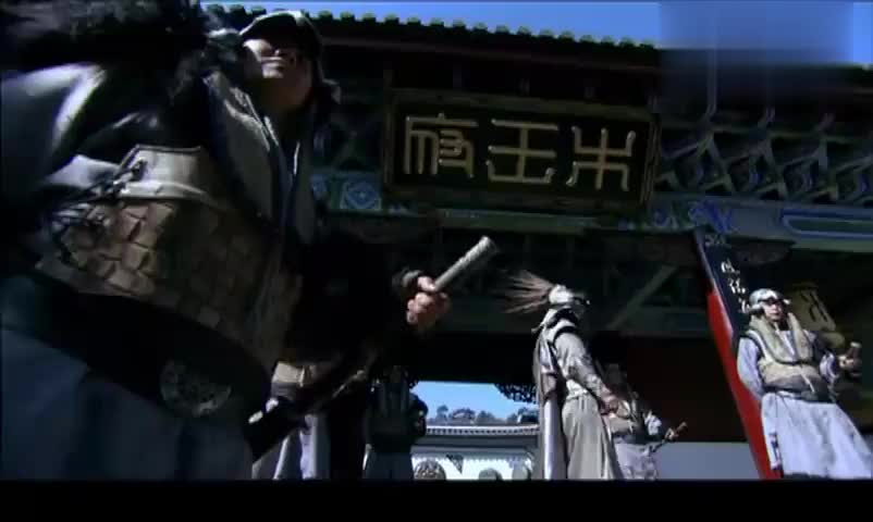 木府风云:巴诺要闯木府,扛着武器气势汹汹,哪料叫木老爷为干爹