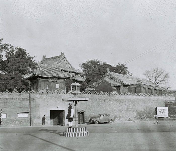历史旧影:50年代初,北京北海公园团城!
