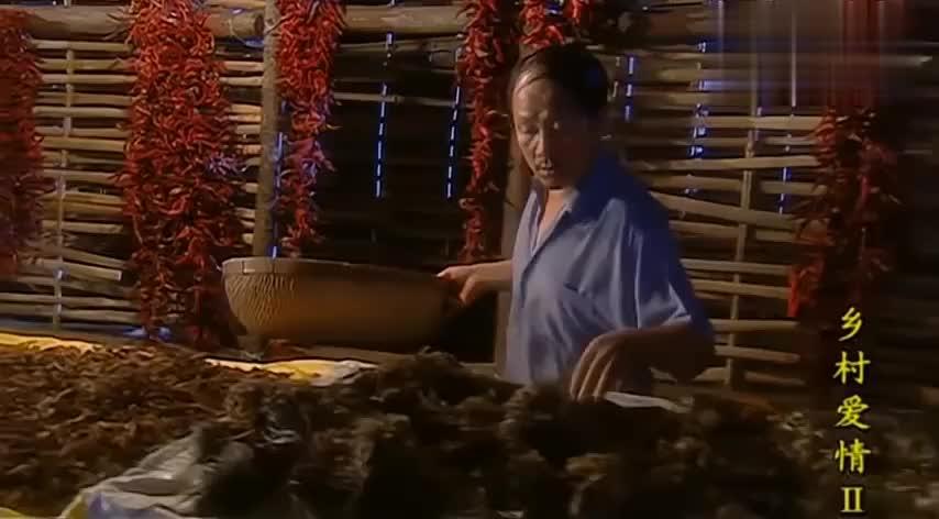 农村生活真丰富,将红辣椒串起来挂满整个墙上,红彤彤都觉得喜庆