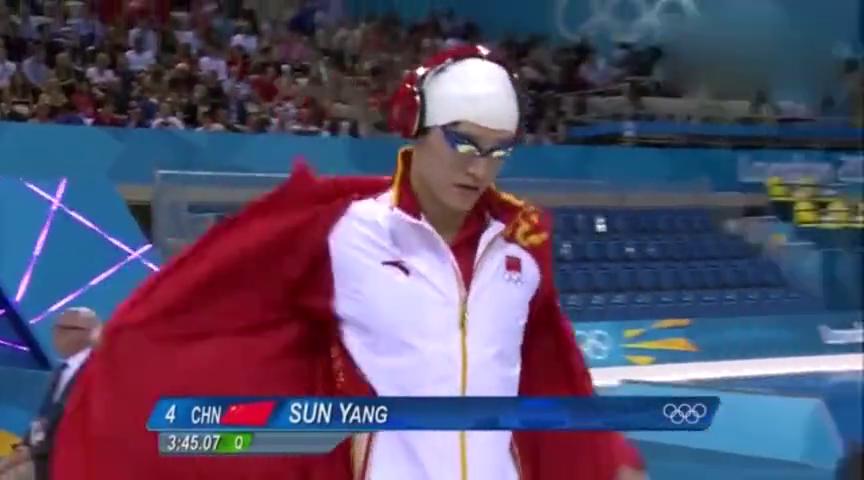 伦敦奥运会上孙杨一战成名,创历史夺得中国游泳史上第一块金牌