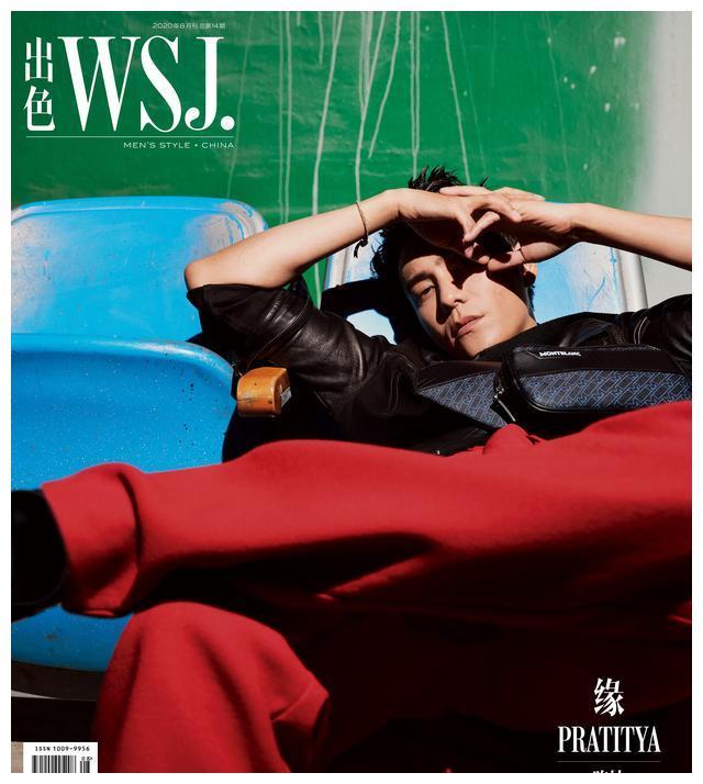 陈坤登《出色WSJ.》8月刊封面,复古刺头利落有型散发不羁魅力