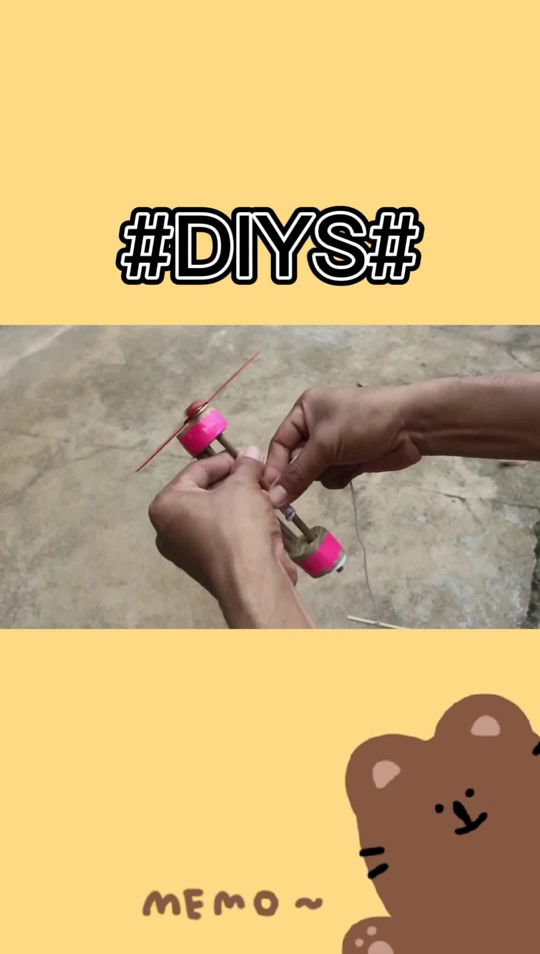 教你如何制作竹蜻蜓!
