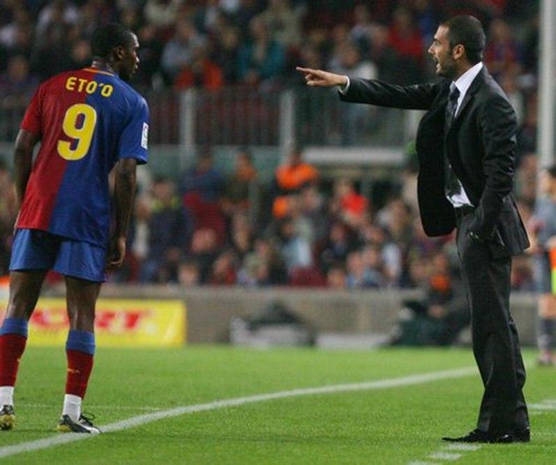 埃托奥表明瓜帅无法和穆帅比较,他执教拜仁没能夺得欧冠