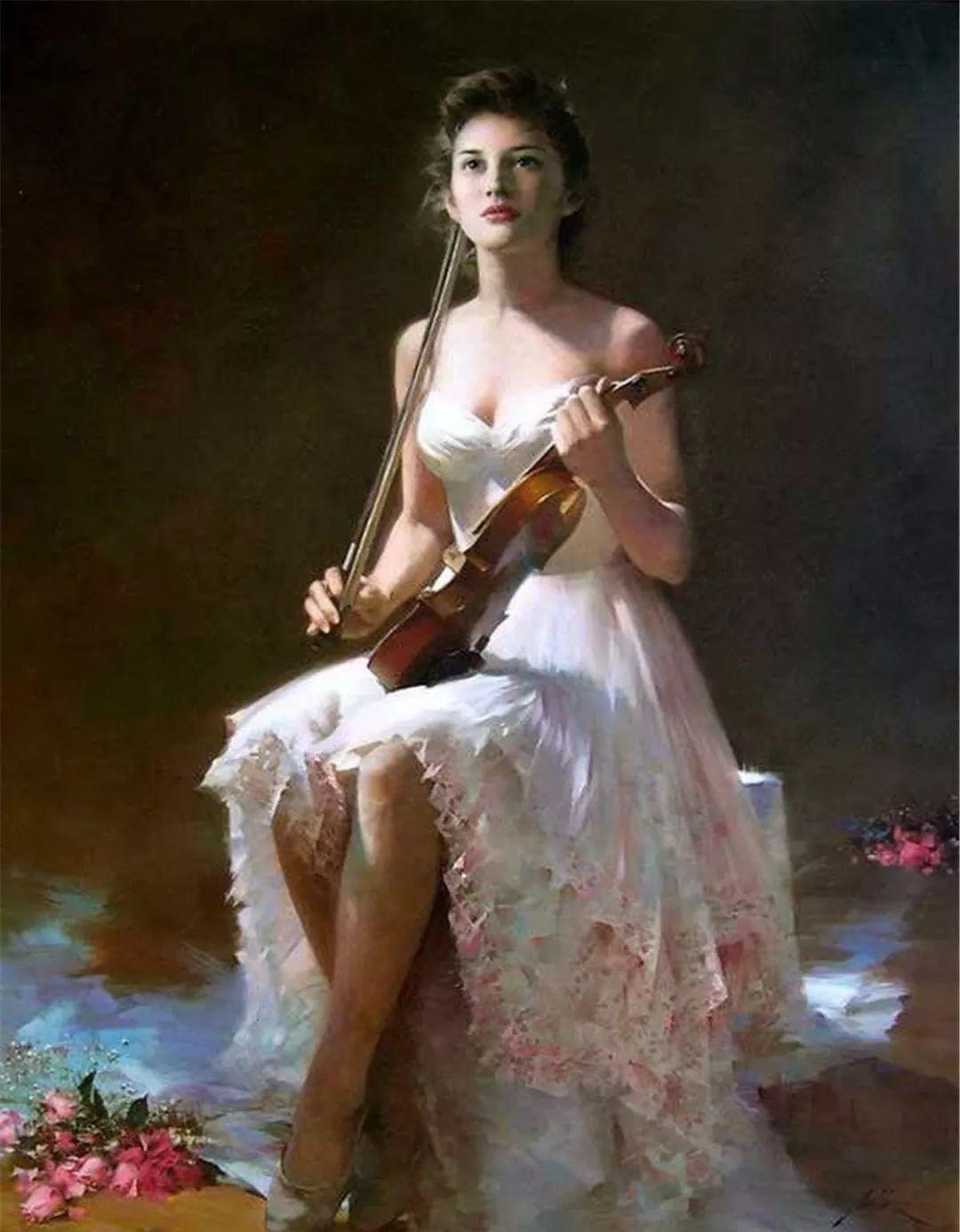 中国油画家笔下的美人,个个气质不凡!