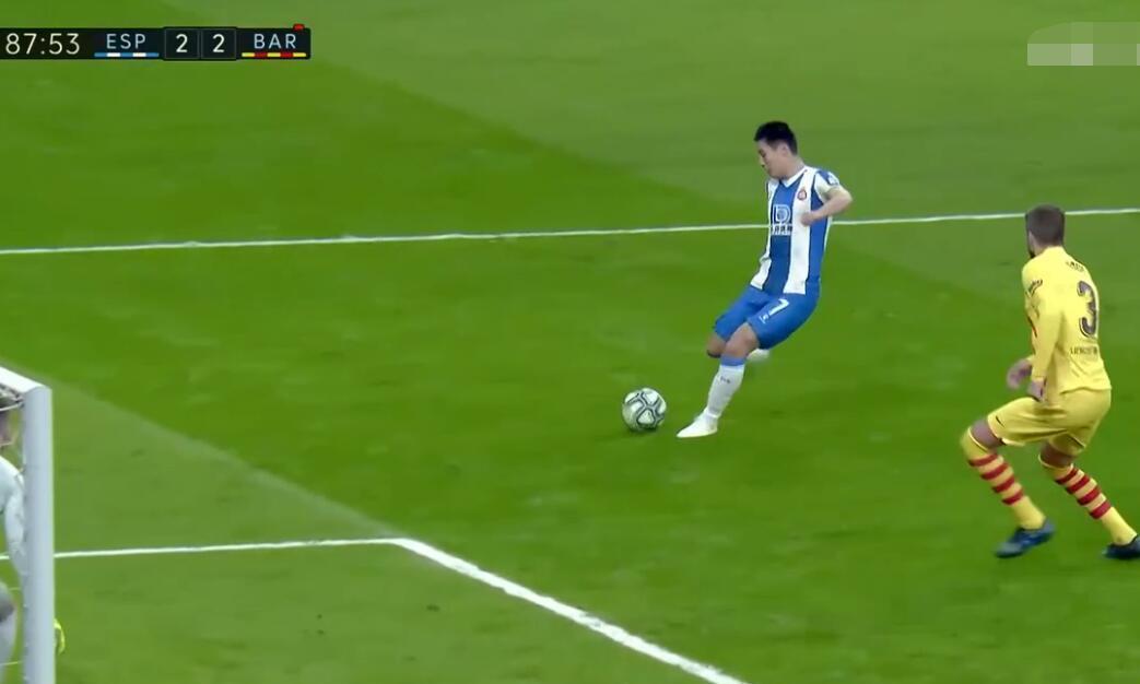 难得一见!武磊攻破巴萨球门,谁注意梅西这举动:真的不多见啊