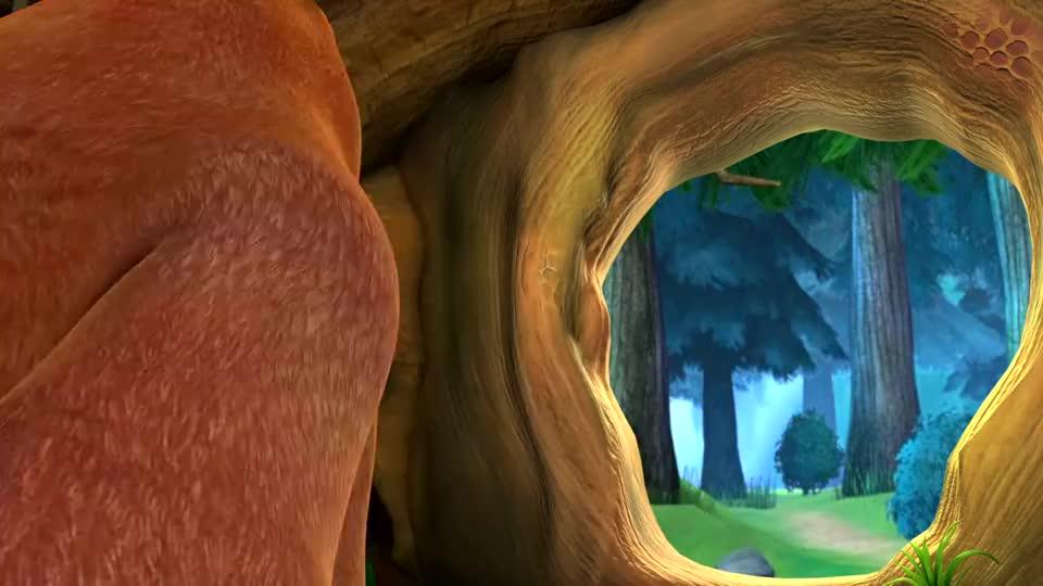 熊大带着燕妈妈出门找虫子,熊二就待在家带着小燕子玩