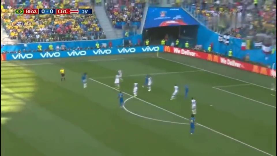 内马尔、库鸟分别建功,巴西补时阶段2-0绝杀哥斯达黎加