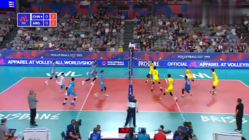 世界男排联赛澳大利亚站中国1-3不敌阿根廷遭9连败继续垫底