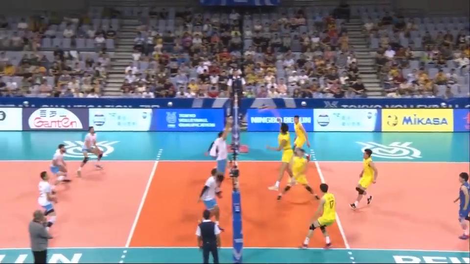中国男排2-3负阿根廷男排全场集锦,无缘直通东京奥运会资格!