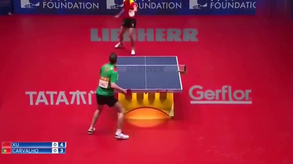 乒乓球比赛中的精彩操作,不愧是乒乓球艺术家许昕