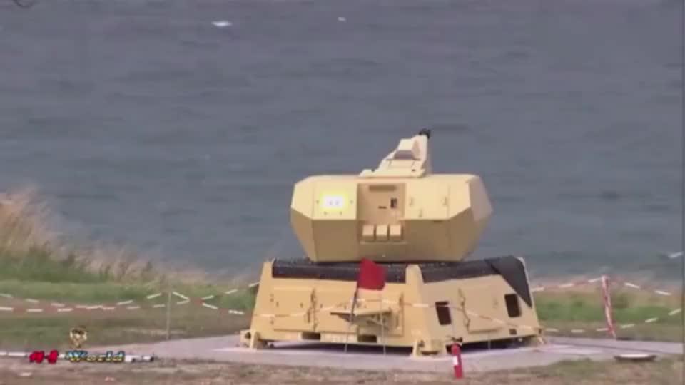 实拍德国国防军MANTIS近防武器系统试射现场,外观科幻!