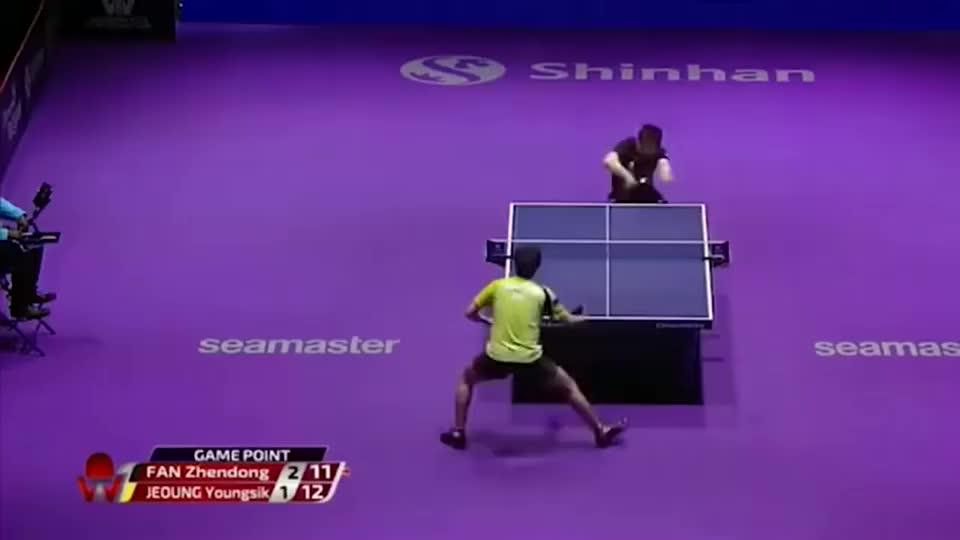 乒乓球:樊振东的削球成长史?看东哥在赛场上灵光一现打削球