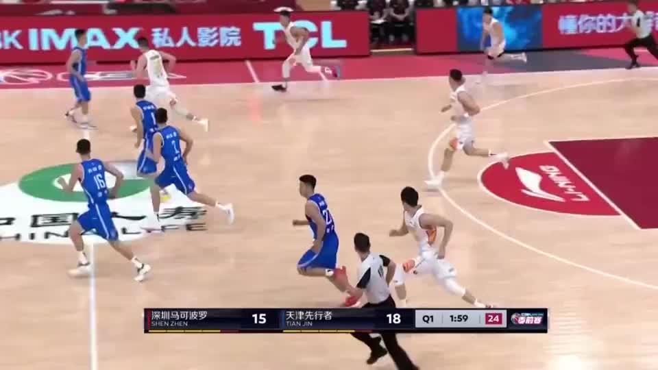 CBA季前赛:深圳队快攻三分没飙中,沈梓捷篮下强势碾压