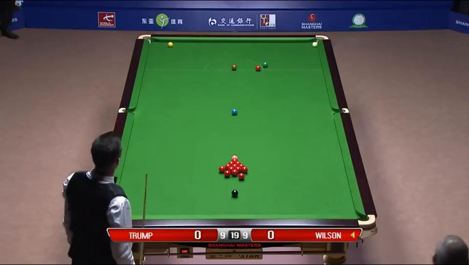 精彩特鲁姆普威尔逊上海大师赛决胜局回放可惜特鲁姆普功亏一篑