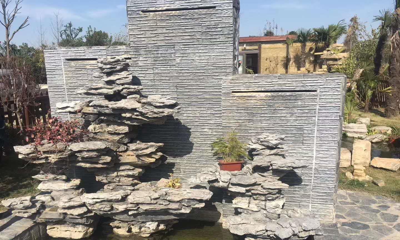 济宁庭院千层石假山的制作过程