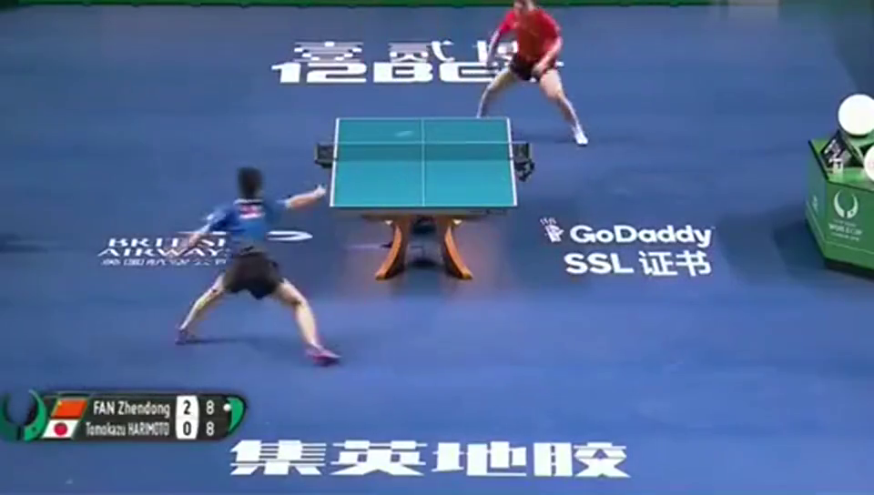 樊振东3-0横扫张本智和,最后三个球,就这么霸气!