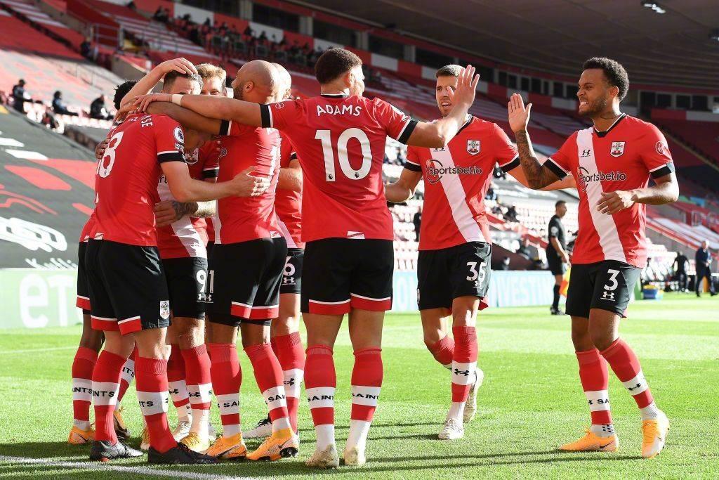 英超第六轮南安普顿2:0埃弗顿,沃德普劳斯与切亚当斯进球