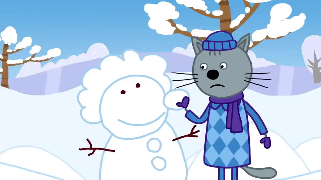 咪好一家:小猫咪们的雪雕作品都太棒了,很难选择出冠军