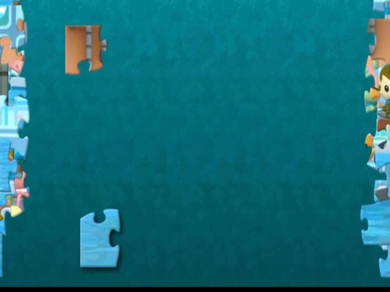 海底小纵队全员出动,拯救海洋生物,益智拼图