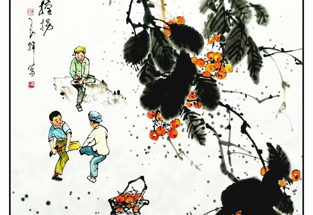 画家谭良干:用写意人物画带你回忆童年时光