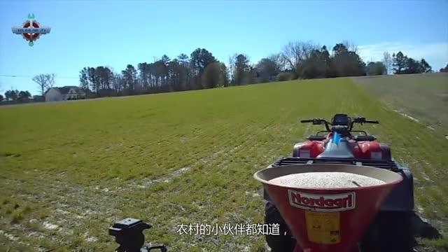 无意间拍到德国机械施肥全过程,德国农作物粗壮的原因找到了