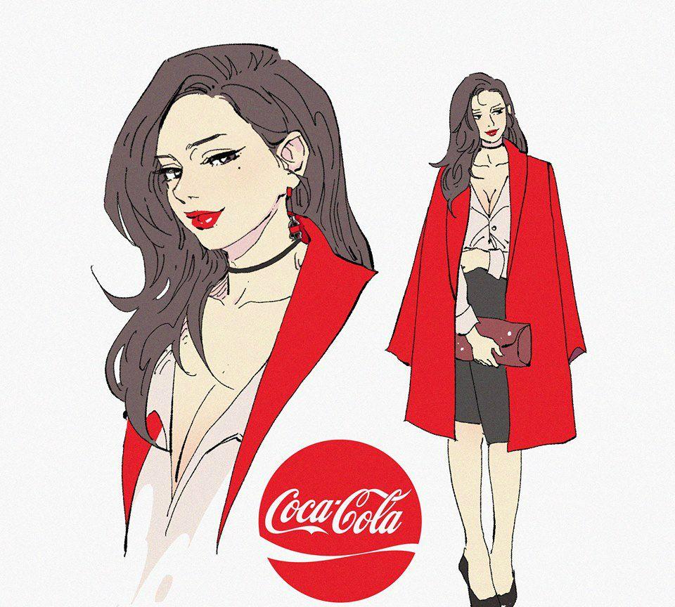 你喜欢穿时装,还是穿旗袍的可口可乐女郎?