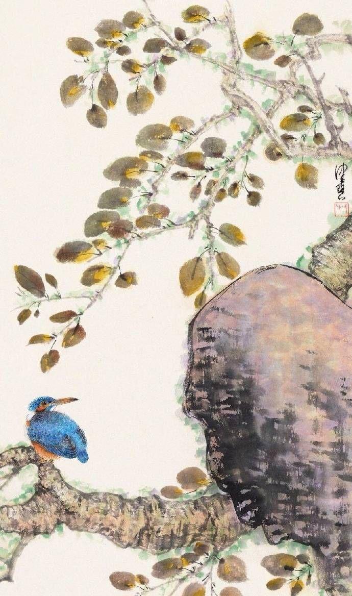 用笔自然,蕴藉深远,溢满诗情画意。陈佩秋花鸟欣赏