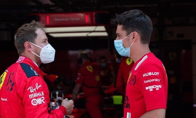法拉利F1车队穆杰罗测试进行中,维特尔上午,勒克莱尔下午
