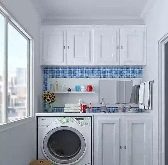 超实用的阳台洗衣机加吊柜案例赏析,一定要收藏哟