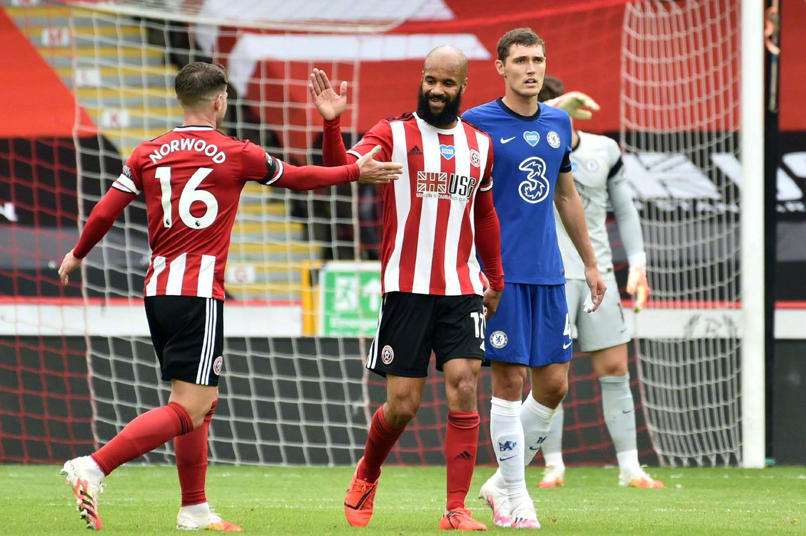 英超第三十五轮切尔西客场0:3谢菲尔德联,麦戈德里克打进两球