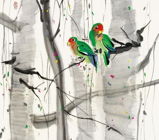 吴冠中画的鸟,如果不说,能看出是什么吗