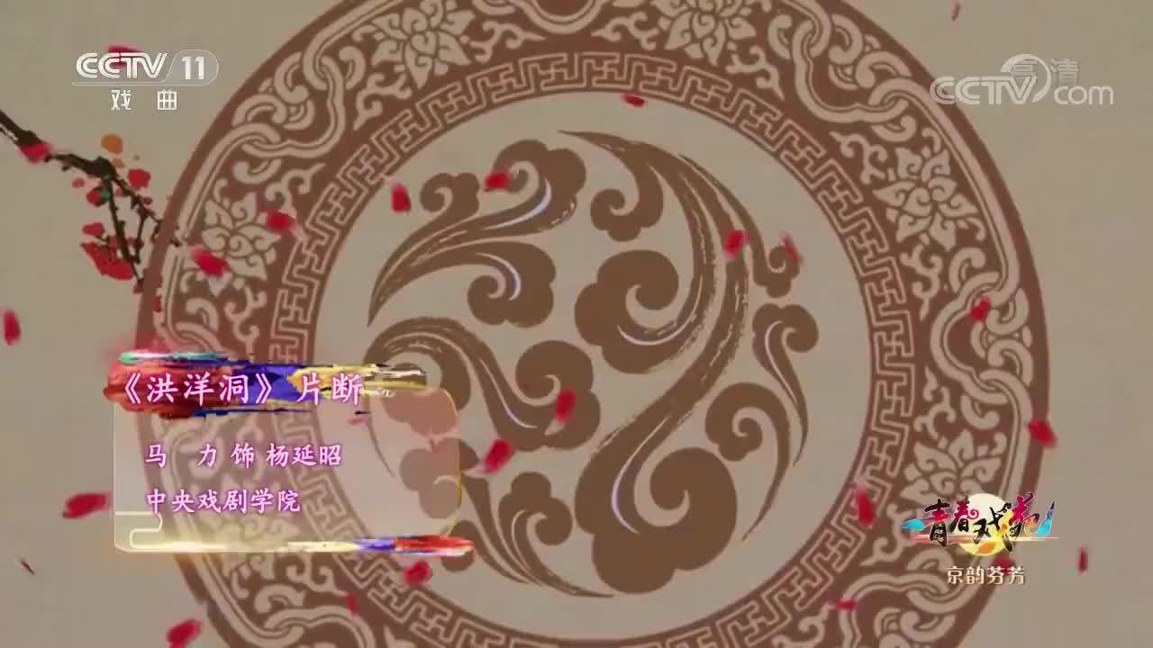京剧《洪洋洞》片段,中央戏剧学院,唱的惟妙惟桥好听