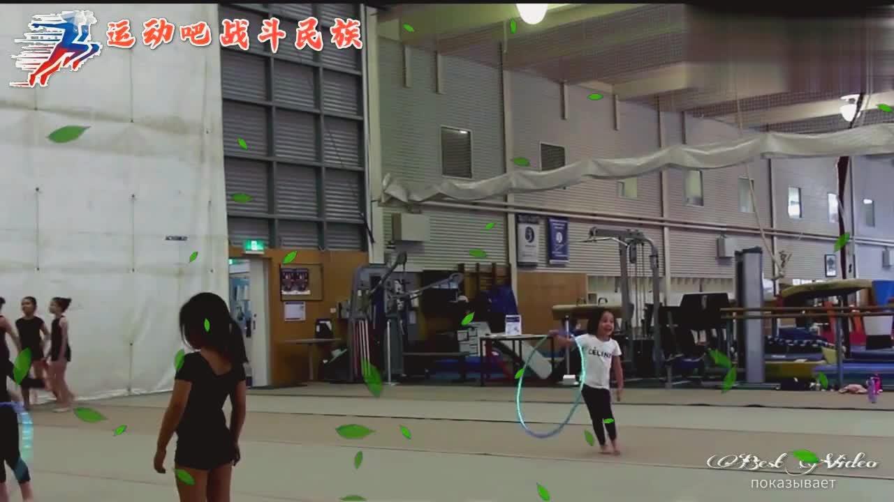 战斗民族岁宝宝练体操一直偷懒!网友肯定把这当幼儿园了!