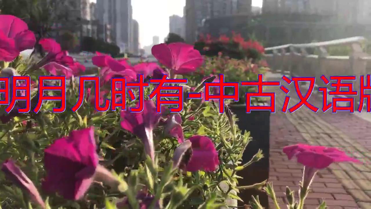 《明月几时有-中古汉语版》,听着舒服,婉转悠扬