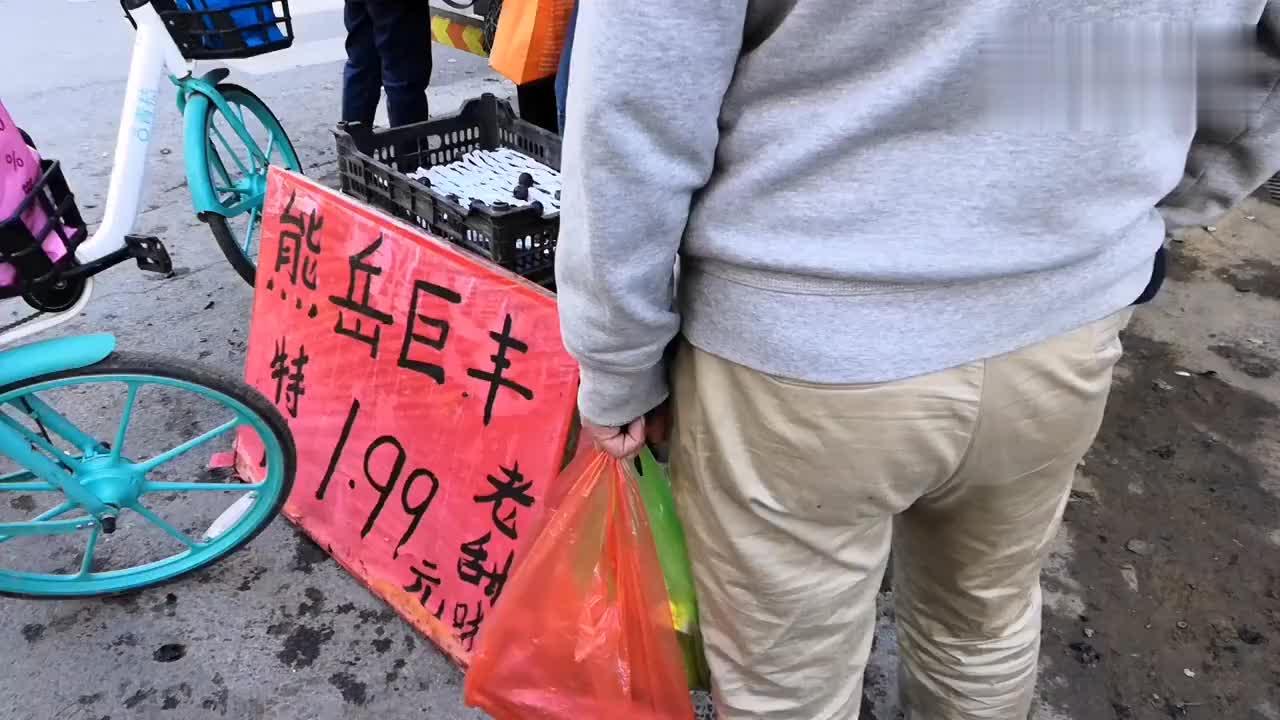 东北沈阳铁西路边大早市,很多秋菜才几毛钱一斤,太便宜了
