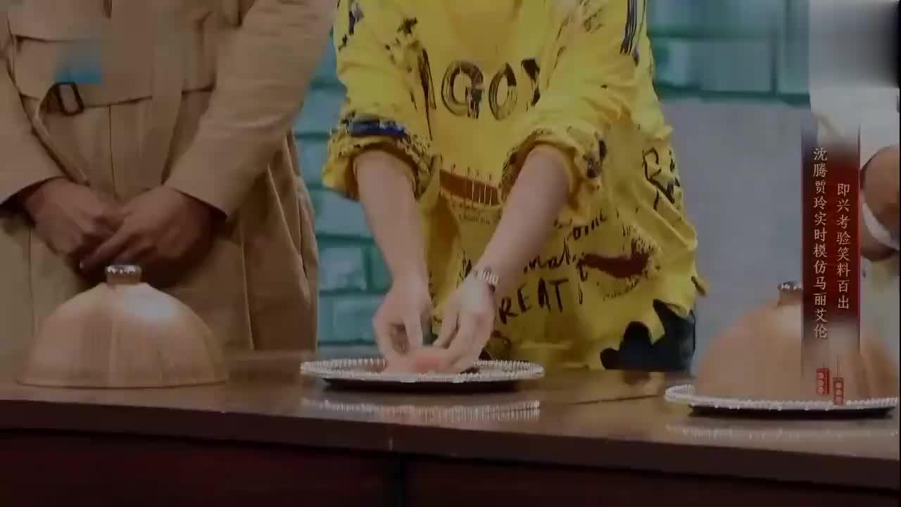 贾玲马丽PK三秒吃西瓜,沈腾一看:小了点吧!