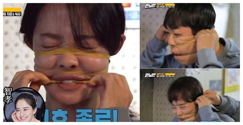《跑男》用橡皮筋勒脸涉嫌虐待成员,宋智孝全昭旻面容扭曲喊痛苦