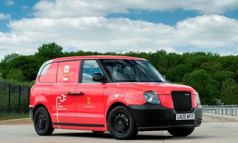 以纯电伦敦出租车改装英国邮政测试电动汽车派信