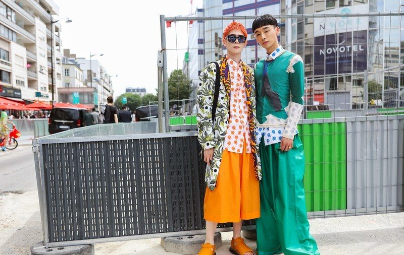 来自巴黎春季2020年男装秀的最佳街头风格照片