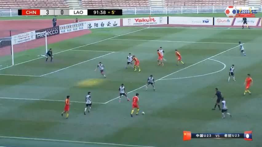 张玉宁替补献助攻,林良铭破门!中国国奥4-0老挝